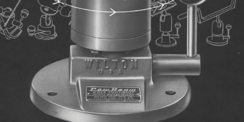 Wilton introduced the Pow-R-Arm line in the 1950s.